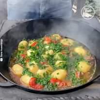 Taste Life - Beef Stew Cooked in Big Cauldron   Facebook